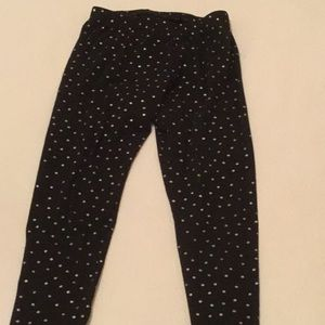 Other - Silver polka dot leggings, worn once
